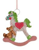 Plaid Rocking Horse - Pink Girl