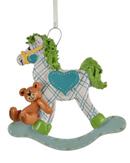Plaid Rocking Horse - Blue Boy
