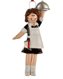 Waitress Christmas Ornaments - Waiter Christmas Ornaments