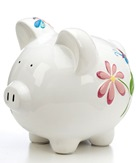 Large Butterfly & Dragonfly Piggy Bank