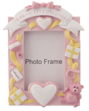 Baby's First Christmas Photo Picture Frame Girl