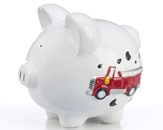 Large Fire Truck Bank