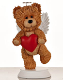 Angel Bear with Red Heart Figurine