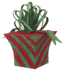 Red & Green Striped Present