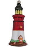 Lighthouse - Red and White Striped