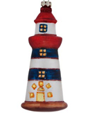 Lighthouse - Blue and White Striped