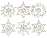 Set of 6 Lace Snowflakes