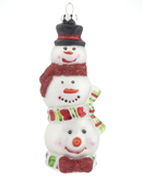 Stacked Snowman Family of 3