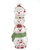 Stacked Snowman Family of 4