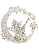 Moon Angel Playing Guitar